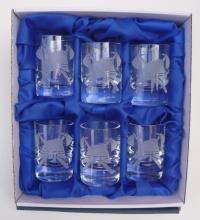 Hasičské skleničky,štamprle 6ks - přilby