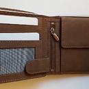 Hasičská kožená peněženka podélná s přilbou obr.2