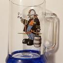 Hasičský korbel 0.5 litru skleněný - hasič s pípou