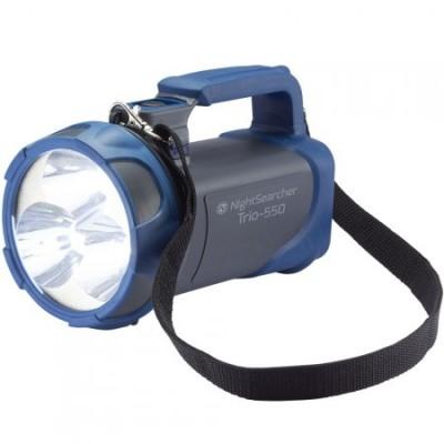 Ruční USB nabíjecí LED svítilna se světelným výkonem 550 lm, TRIO 550 LI-ION šedomodrá
