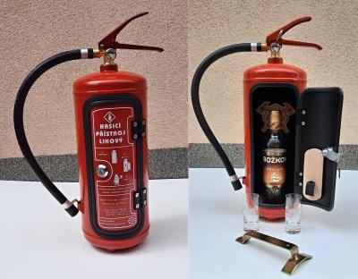 Bar - hasicí přístroj speciál s 2ks štamprlí, skleniček obr.5