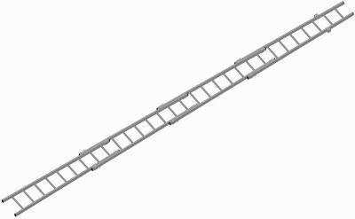 Žebřík záchranářský nastavovací - Profi - Al - HN3L - (Atest dle EN 1147, 2001) - 2,6m