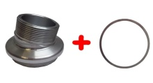 Příruba C k rozdělovači - sevřené úhly včetně vymezovacího kroužku