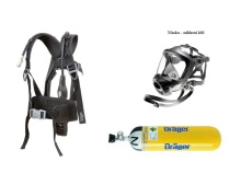Dýchací přístroj DRÄGER PSS4000 maska FPS 7730 náhlavní kříž,  kompozit lahev