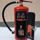 Bar - hasicí přístroj s 2ks štamprlí, skleniček