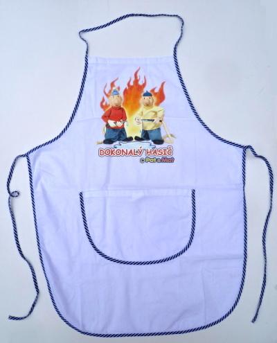 Zástěra na vaření bavlněná - Dokonalý hasič