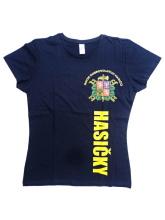 Dámské triko s krátkým rukávem a nápisem HASIČKY