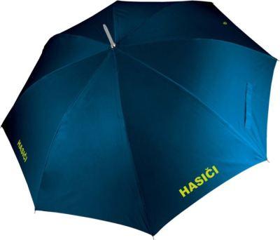 Deštník tmavě modrý s nápisy HASIČI