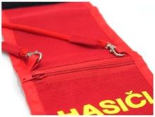 Dětská peněženka HASIČI detail - červená