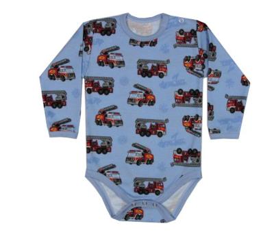 Dětské body s hasičskými auty, dlouhý rukáv