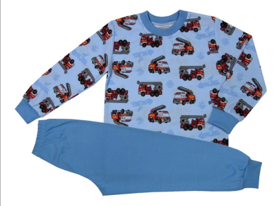 Dětské pyžamo s hasičskými auty