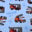 Dětské pyžamo s hasičskými auty - detail