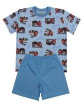 Dětské pyžamo s hasičskými auty s krátkým rukávem