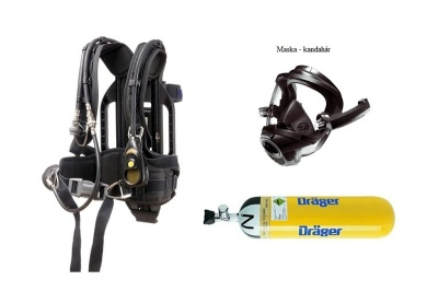 Dýchací přístroj DRÄGER PSS 5000 maska kandahár, ocel lahev