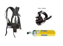 Dýchací přístroj DRÄGER PSS3000 maska FPS 7730, kompozitní lahev obr.1