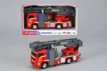 Dětské hasičské auto na setrvačník + světla, 31cm