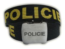 Opasek POLICIE s otvírákem v přezce (120cm) - DOPRODEJ