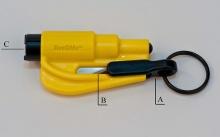 Přívěšek na klíče Vašeho vozu ResQMe – záchranný nástroj