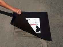 Ucpávka kanalizační magnetická MDC, rozměr 600 x 600 x 0,9