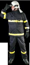 """Ochranný oděv BUSHFIRE s nápisem """"HASIČI"""" - kabát"""
