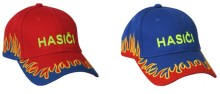 Čepice, kšiltovka s plameny