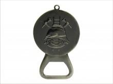 Přívěšek  medaile s otvírákem staronikl