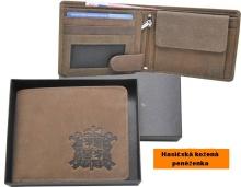Hasičská kožená peněženka motiv- znak