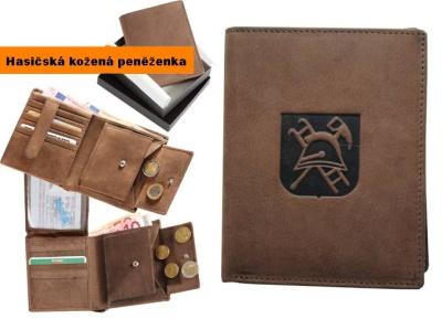 Hasičská kožená peněženka motiv- HZS helma