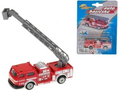 Auto hasiči 7cm kovové na kartě
