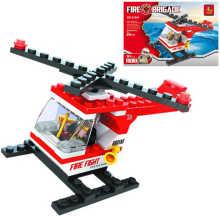 Hasiči stavebnice vrtulník , 69 dílků