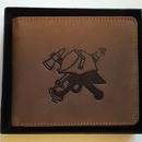 Hasičská kožená peněženka podélná s přilbou obr.1