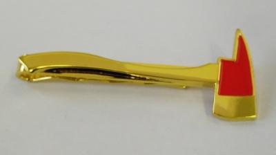 Hasičská spona na kravatu - Zlatá sekerka