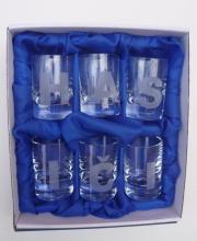 Hasičské skleničky,štamprle 6ks - písmena