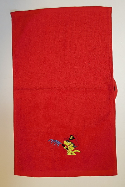 Hasičský bavlněný ručník s dráčkem Soptíkem - mini