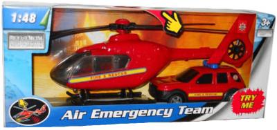 Hasičský vrtulník + auto