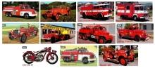 Magnet hasičského auta - obdélníkový tvar