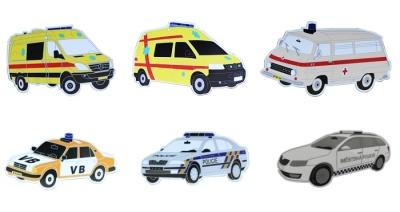 Magnety policie a sanitek