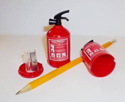 Ořezávátko hasicí přístroj s tužkou
