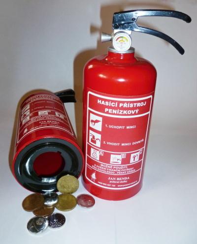 Pokladnička, kasička hasicí přístroj obr.1