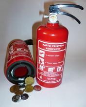 Pokladnička, kasička hasicí přístroj