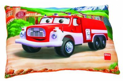 Polštářek plyšový s obrázkem hasičské Tatry