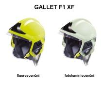 Přilba GALLET F1 XF se zlatým štítem a zátylníkem