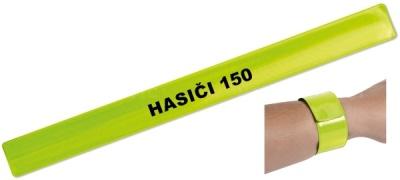 Reflexní páska žlutá s nápisem HASIČI 150