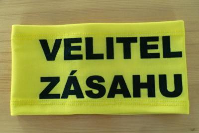 Rukávová páska VELITEL ZÁSAHU