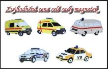 Sada magnetů aut policie a sanitek