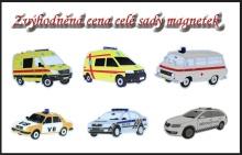 Sada magnetů aut policie a záchranářů