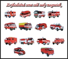 Sada magnetů hasičských aut - sada 1