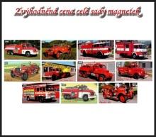 Sada magnetů hasičských aut - sada 2