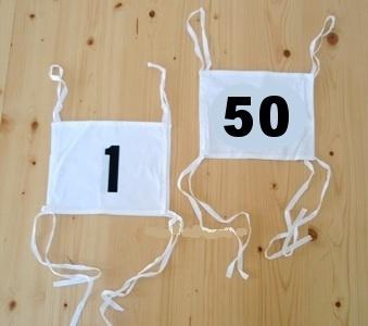 Sada startovních čísel 1-50
