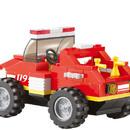 Stavebnice HASIČI mini požární vůz set 118 dílků + 1 figurka plast obr.2